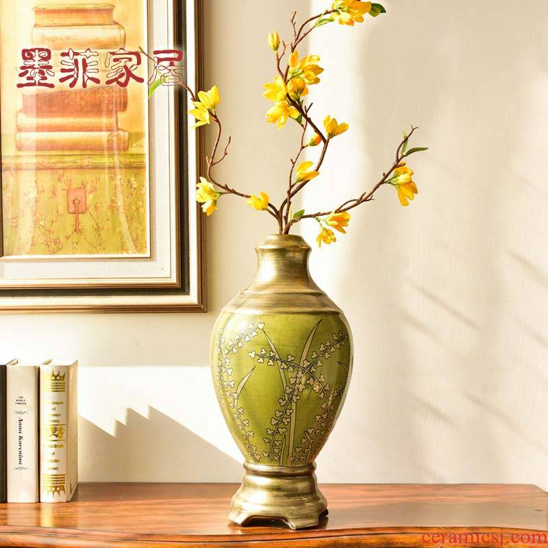 New classical creative ceramic vases, flower art suit American TV ark, wine sitting room porch soft adornment is placed