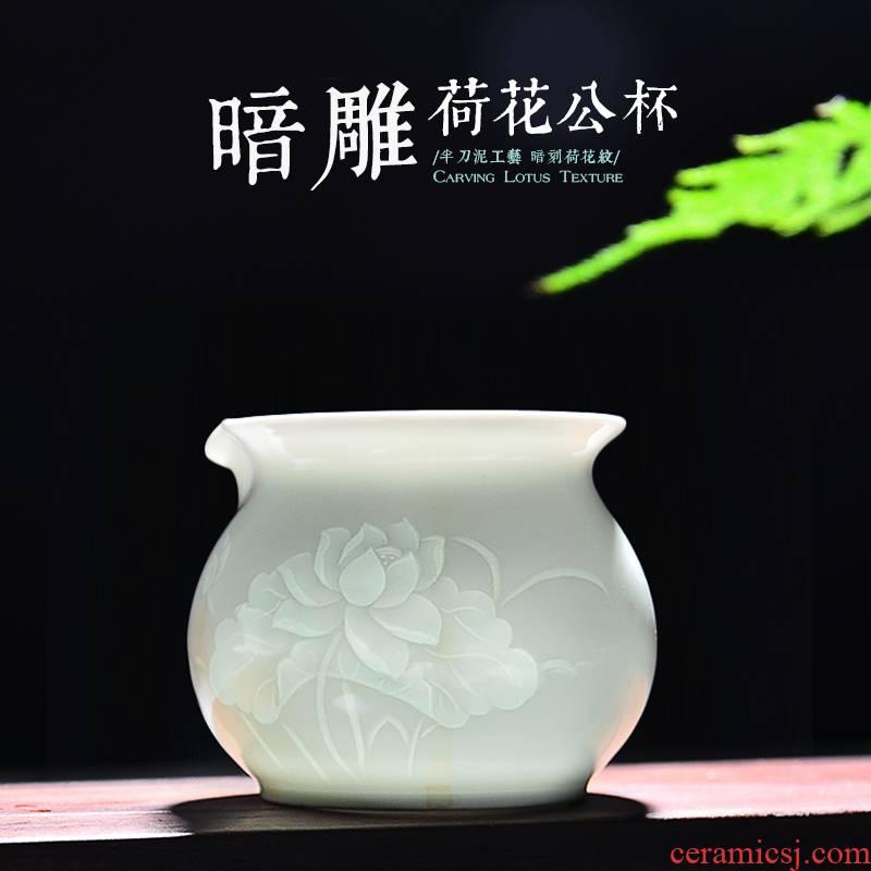 24 is jingdezhen ceramic fair keller points and tea cups fair BeiYing the qing engraving kung fu tea set