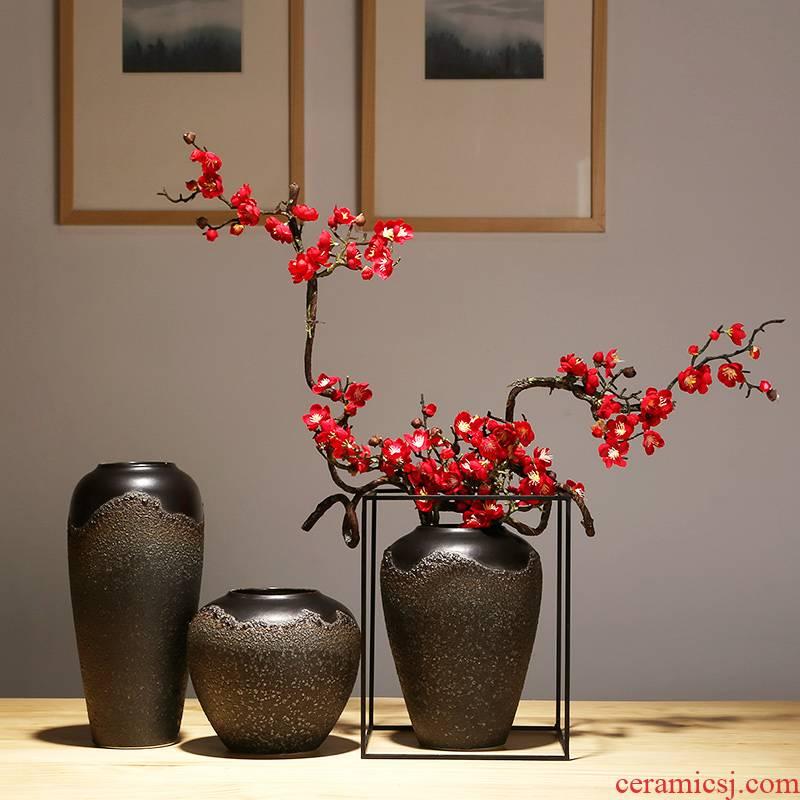 Jingdezhen ceramics vase new Chinese arts and crafts porcelain vase of TV bar face sitting room porch suits for