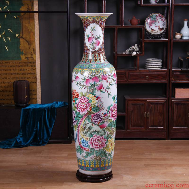 Jingdezhen ceramics to heavy ground vase archaize pastel hand - made sitting room hotel opening gifts flower arranging furnishing articles