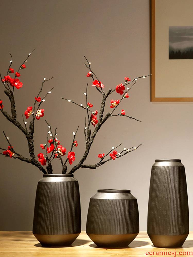Jingdezhen ceramics vases, I and contracted style of the sitting room porch place to live in the dried flower decorations