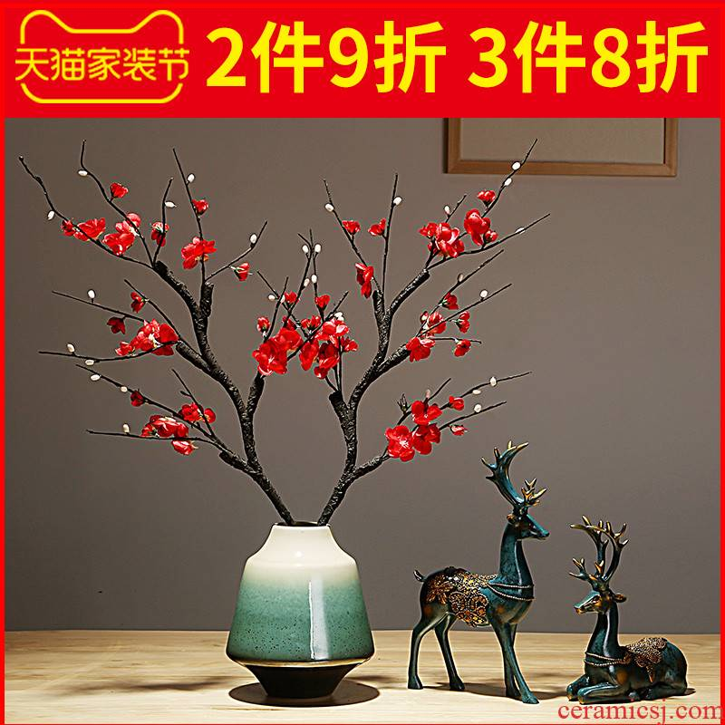 Jingdezhen ceramics by hand vase modern new Chinese style living room porch home dry flower arranging flowers adornment furnishing articles