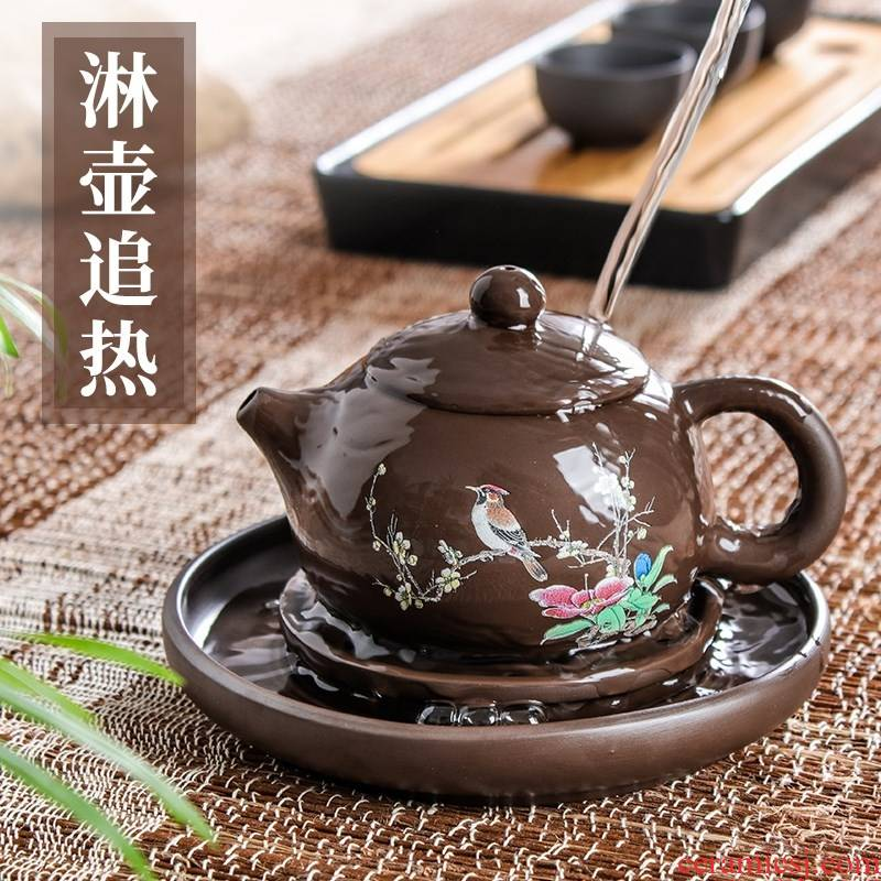 Yixing it bearing pot holder saucer dry mercifully machine a pot of tea tray teapot base mat cup mat kung fu tea accessories