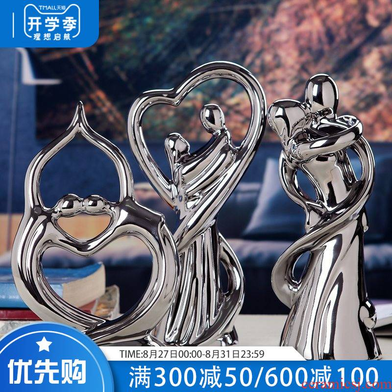 I and contracted household act the role ofing is tasted furnishing articles ceramic decoration practical figure sitting room decoration wedding gift