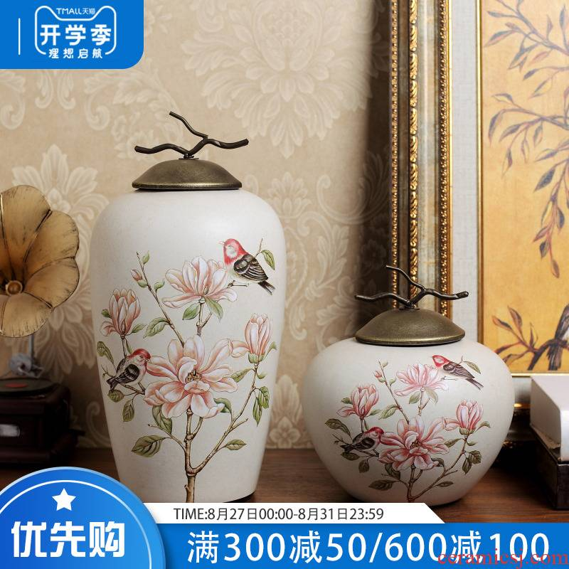 American country ceramic storage tank furnishing articles European household soft adornment of the sitting room porch ark, exhibition hall, example room