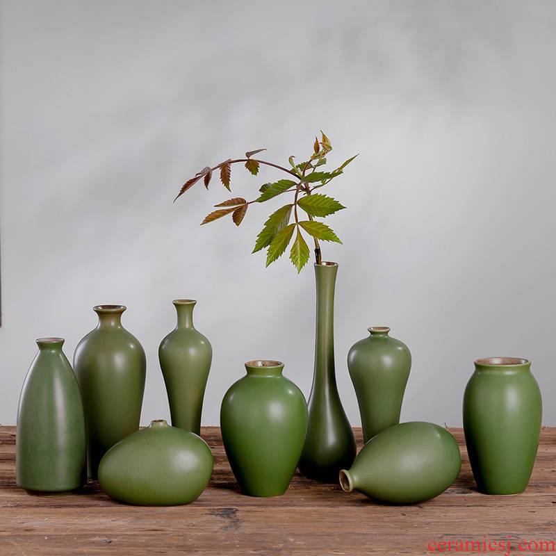 New Chinese style mini floret bottle ceramic flower arranging furnishing articles sitting room tea table floral desktop zen household ornaments