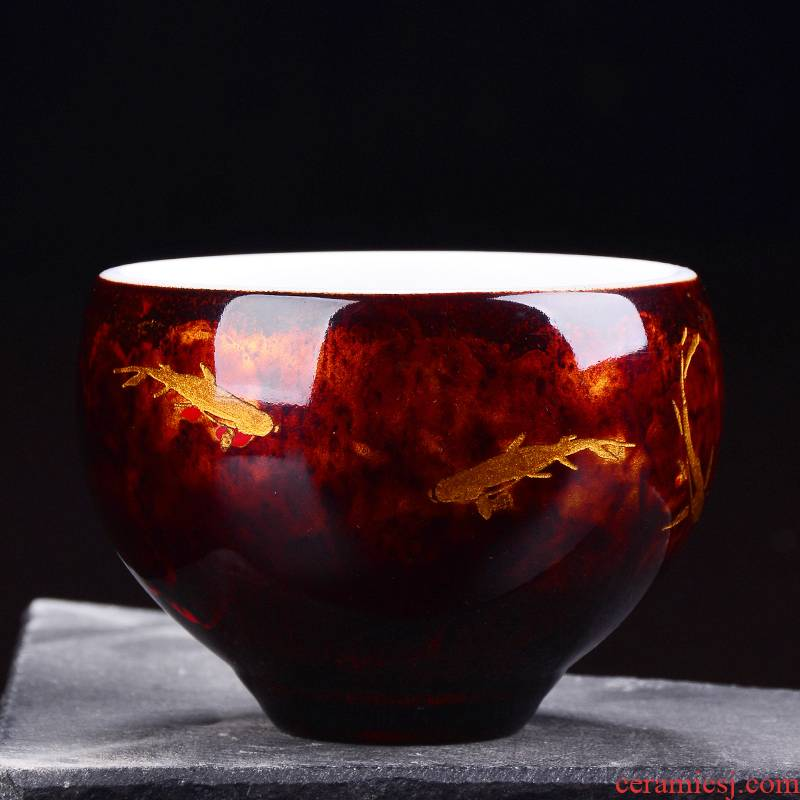 The ancient Chinese lacquer manual lacquer dehua white porcelain up new xiangyun natual creative kung fu master cup single CPU orphan works