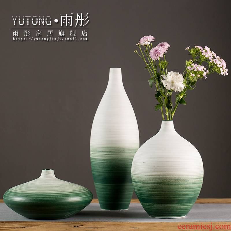 Ceramic vase contracted household act the role ofing is tasted furnishing articles furnishing articles sitting room lucky bamboo dried flowers flower arrangement table accessories ceramics