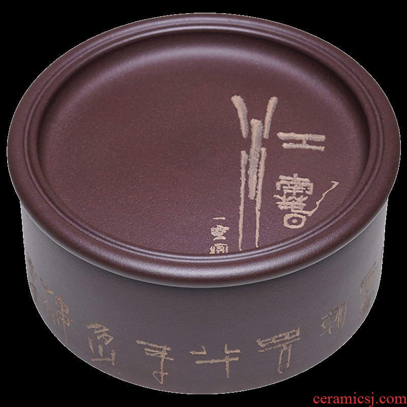 Shadow at yixing purple sand tea pot Wu Jianli undressed ore purple mud carved by hand draw pu - erh tea POTS sealed as cans of ZY