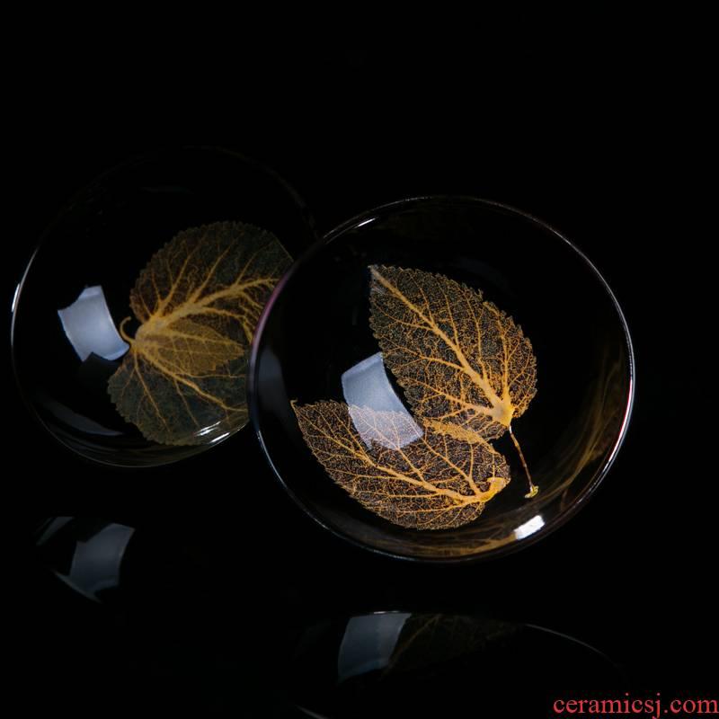 Jizhou up konoha temmoku lamp that jingdezhen sharply black glaze tea set building ceramic cups lamp cup single master CPU