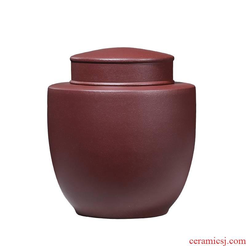 Shadow at yixing purple sand tea pot large loading manual sealing 1 catty wake tea ricer box cylinder HSMP