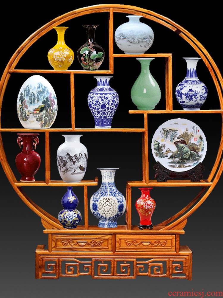 Jingdezhen ceramics creative furnishing articles of the new Chinese style household indoor rich ancient frame sitting room porch decoration process