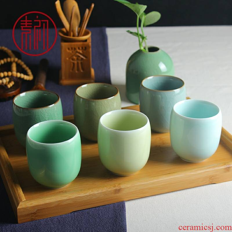 Kung fu tea cups up ceramic cup move household glass cup master cup office cup