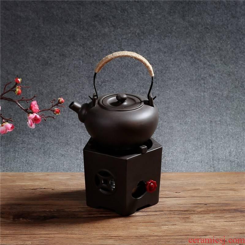 Violet arenaceous tea stove to cook kung fu tea ware Violet arenaceous curing pot side heating kettle tea stove adjustable alcohol lamp bottles
