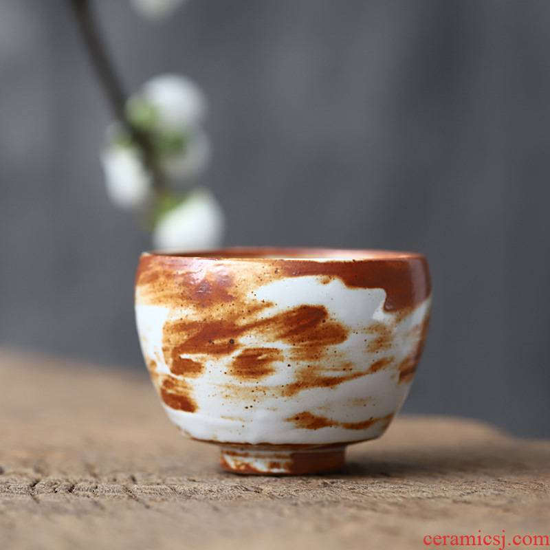 Poly real view jingdezhen manual variable glaze large master cup sample tea cup wild glaze craft large cups