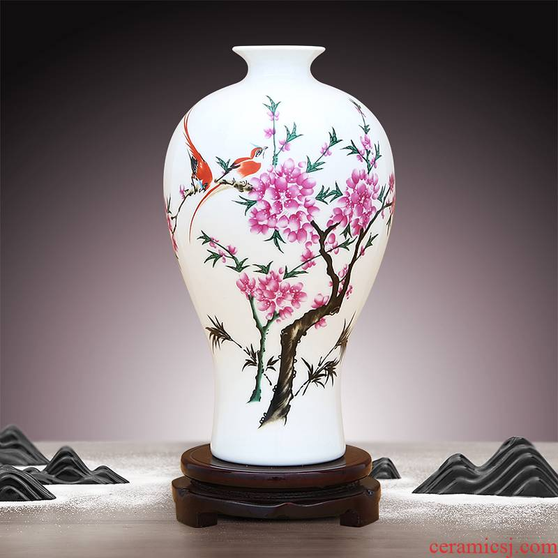 To ceramics powder enamel porcelain beauty drunk vase