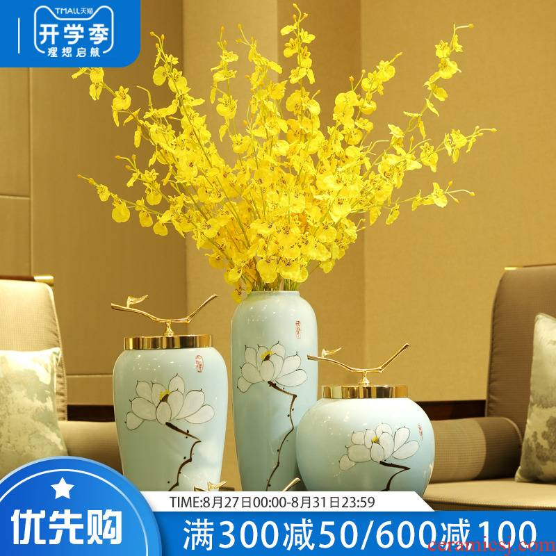 I and contracted the new Chinese style ceramic table mesa household flower arranging porcelain vase is placed on the sitting room porch decoration