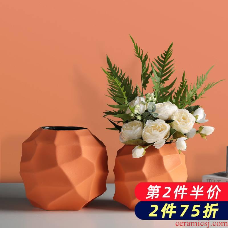 Nordic ceramic dry flower floret bottle creative ins wind flower arrangement table of I sitting room home furnishing articles