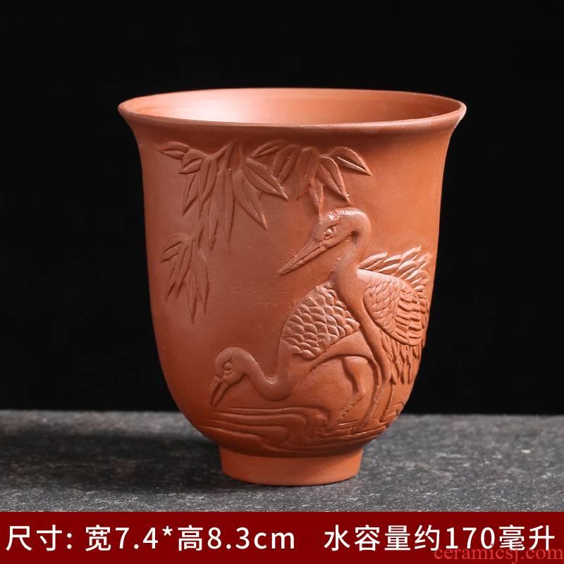 Hat to blue and white porcelain tea cups of ceramic cups tea masters cup single restoring ancient ways, kung fu tea set violet arenaceous white porcelain