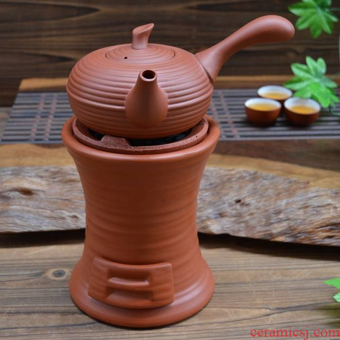 Ceramic red purple sand boil tea charcoal stove fire wind furnace furnace charcoal burners kung fu tea stove kettle carbon furnace suits for