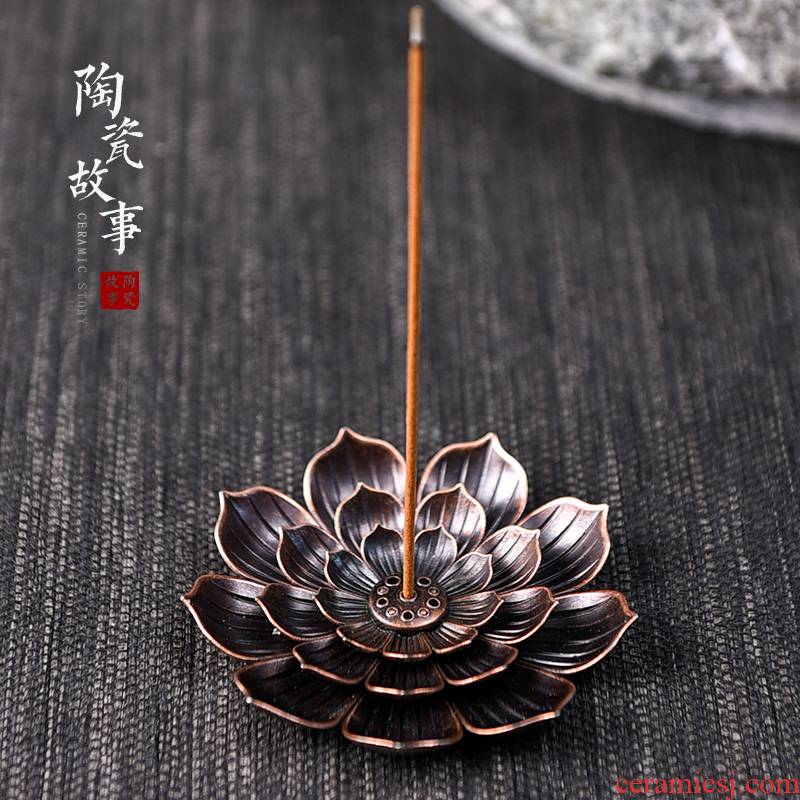 Ceramic and alloy lotus joss stick inserted there are sweet story kung fu tea tea accessories furnishing articles zen tea of a pet