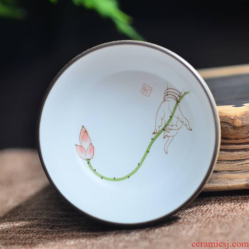 Twenty - four ware jingdezhen ceramic cups up hand - made of pu 'er clay sample tea cup kung fu tea set