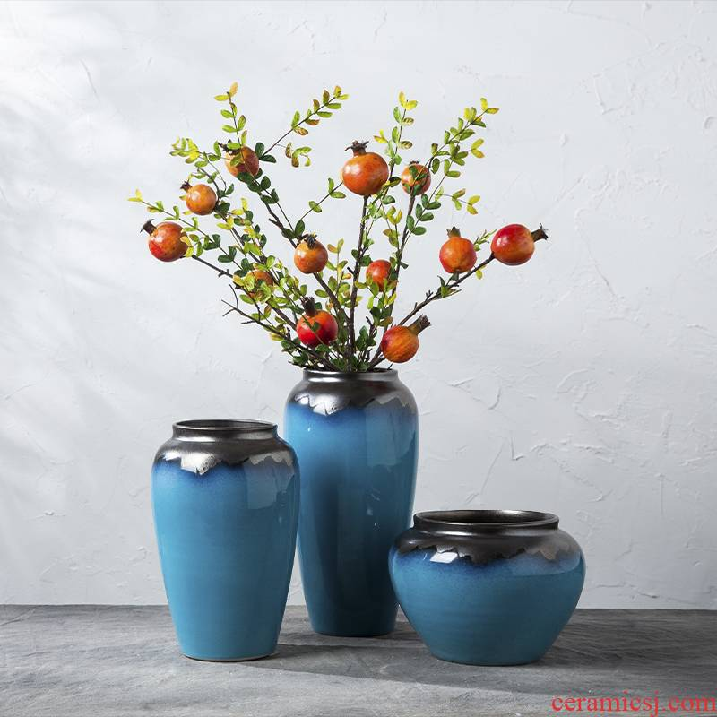 I and contracted desktop floret bottle arranging flowers sitting room American ceramic dry flower is placed flowers, flower pot simulation flower decoration