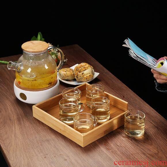 Mercifully fruit flower pot boiling electric TaoLu glass tea set tea machine high temperature resistant filter suit household the teapot