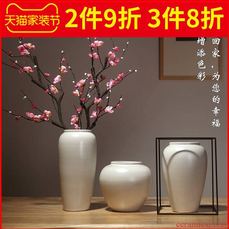Jingdezhen ceramics vases, I and contracted style of the sitting room porch place flower arranging dried flower crafts ornament
