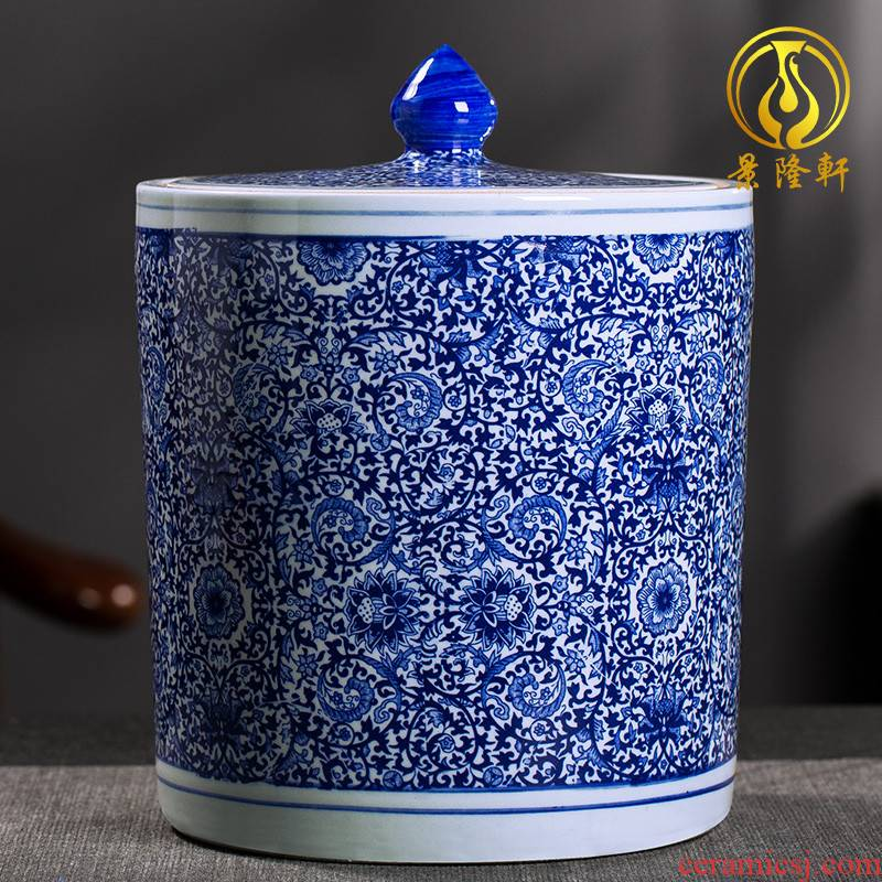 Large 2 jins with coarse pottery caddy fixings ceramic household sealed as cans of puer tea box to put the tea POTS ceramic pot