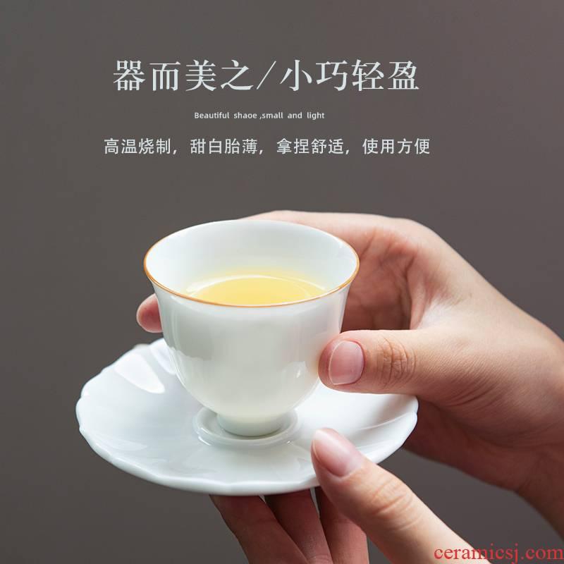 Jingdezhen pure manual them thin body master cup custom sample tea cup kung fu tea cups individual cup single CPU