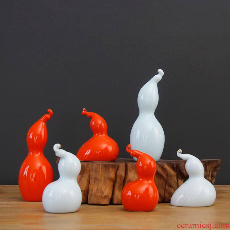 Ceramic gourd Ceramic bottle gourd gourd furnishing articles furnishing articles household act the role ofing is tasted