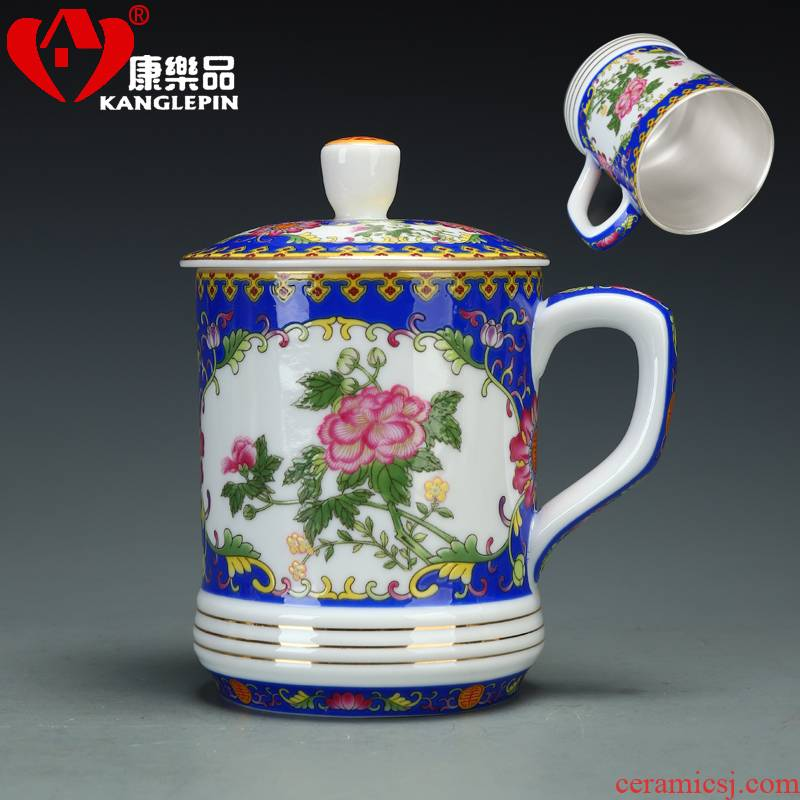 Recreational product cloisonne coppering. As sterling silver cup 999 porcelain enamel cup traditional manual office cover glass ceramic cup