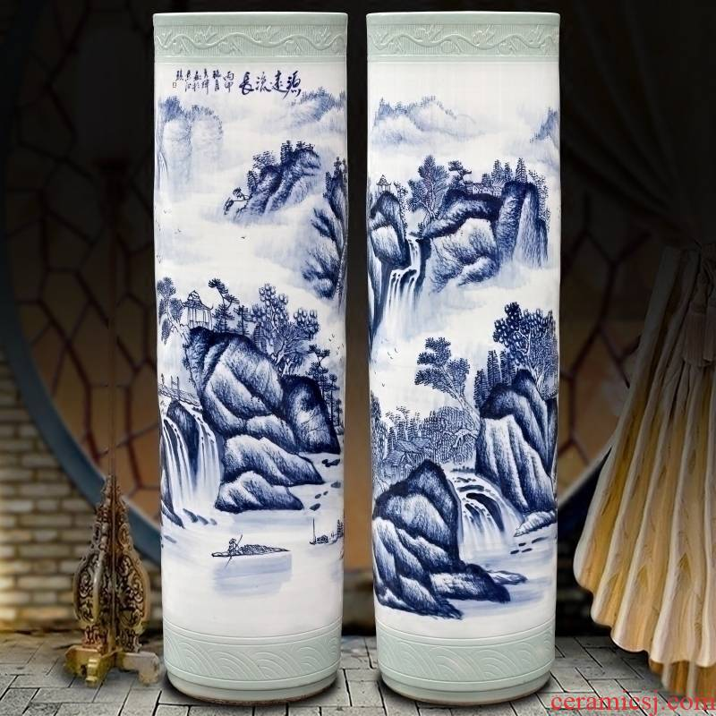 Jingdezhen ceramics hand - made has a long history of large vase home sitting room hotel large - sized quiver furnishing articles