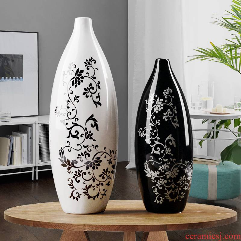 European vase furnishing articles ornaments creative flower arranging contracted sitting room porch cabinet home furnishing articles ceramic arts and crafts