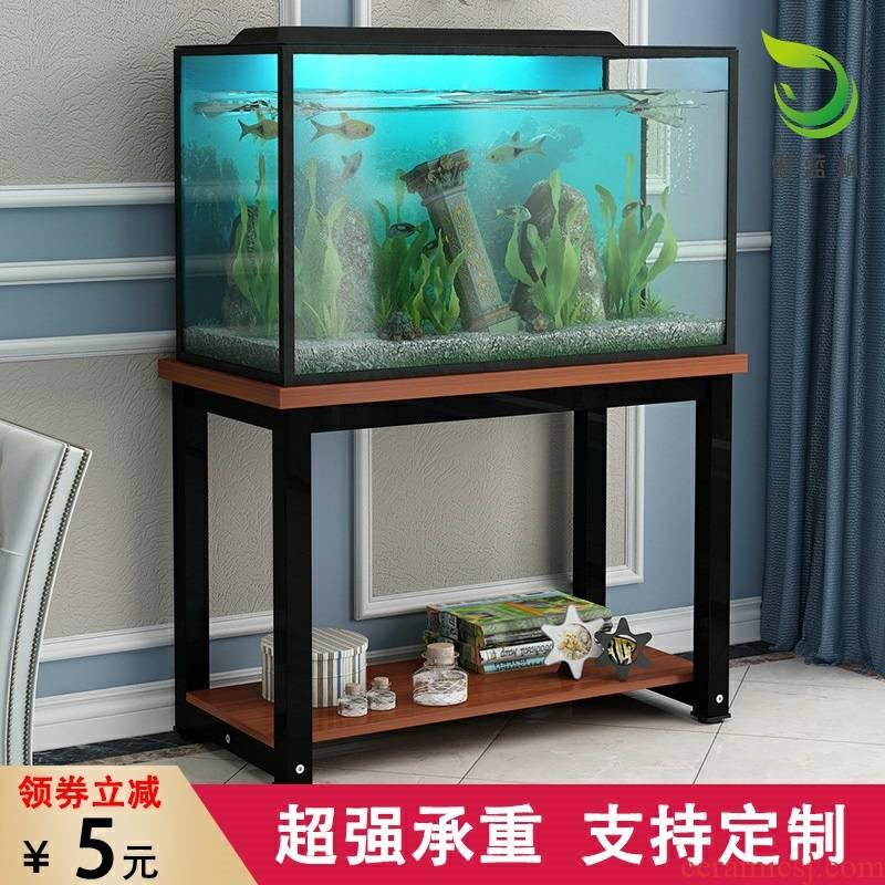 Fish tank aquarium shelf bottom ark cabinet put aquarium, wrought iron and easily customized tank base shelf bottom ark