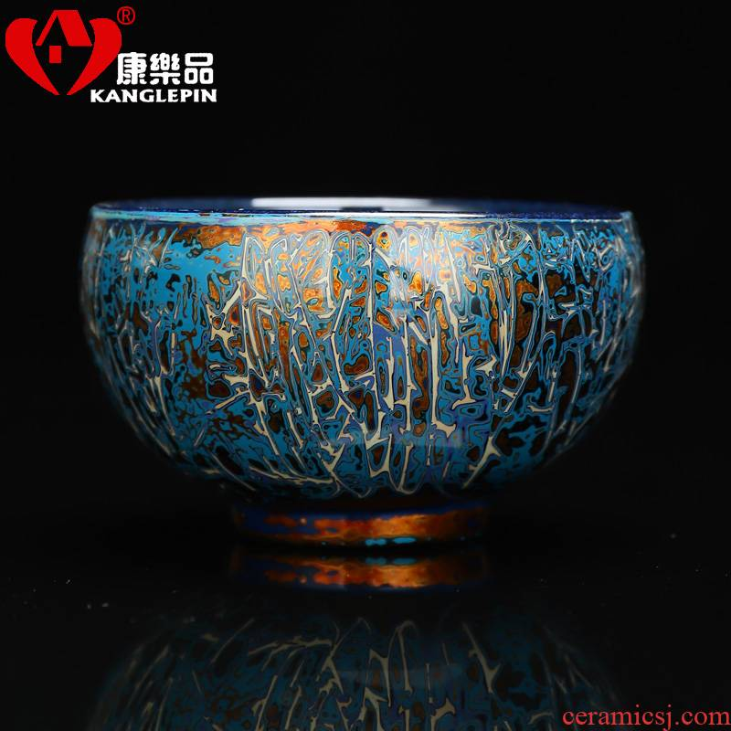 Recreational product gold was violet arenaceous all hand 24 k gold master cup jingdezhen gold konoha built Chinese lacquer cups