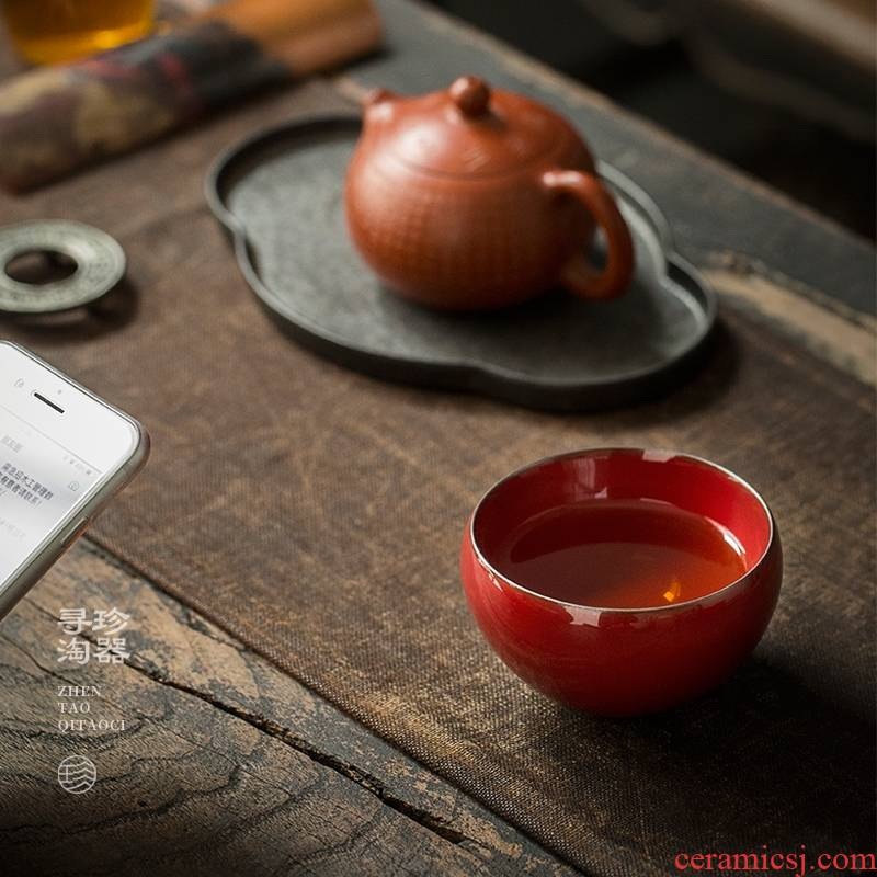 Jane tao machine master cup cup built a single ceramic lamp that kung fu tea bowl hat to a cup of tea light only sample tea cup