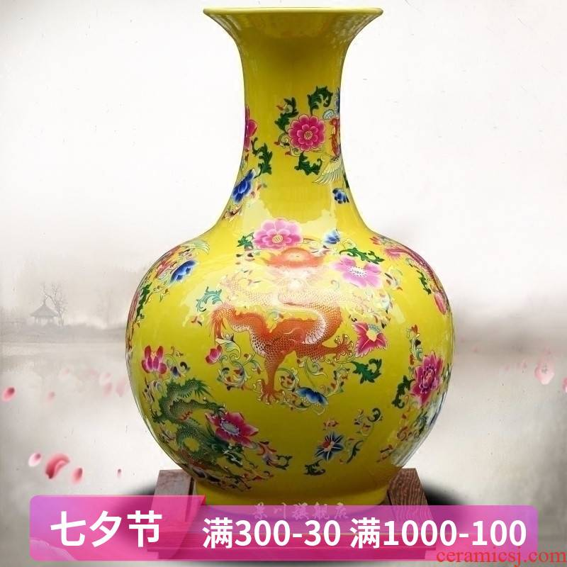 Jingdezhen ceramic vase in extremely good fortune dried flowers flower arrangement home sitting room office study large adornment furnishing articles