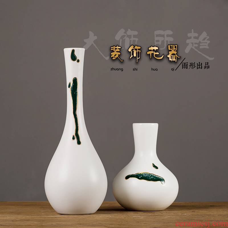 Creative flower furnishing articles zen move dried flower flower flower implement sitting room tea table cut ceramic bottle of home decoration