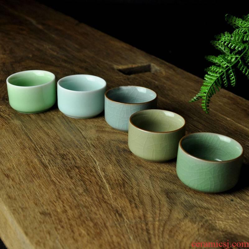 Poly real scene glass ceramic up celadon kung fu tea liquor cup a cup sample tea cup single CPU