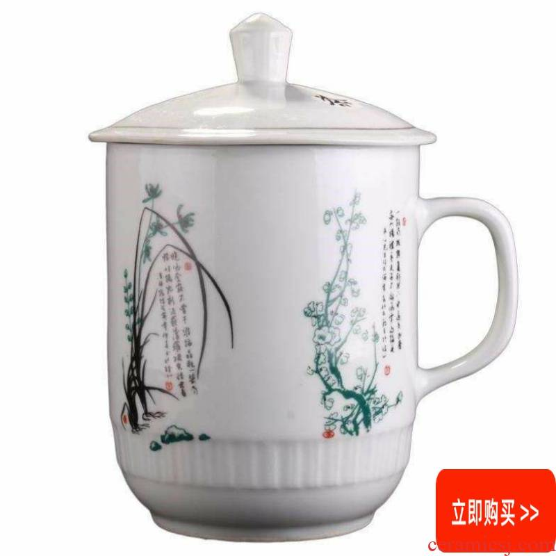 Big capacity ceramic with cover cup 1800 ml of super - sized overlord of jingdezhen tea cup cup of cold water