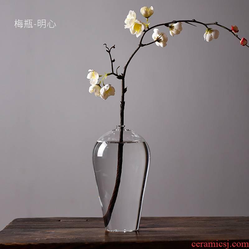 Ceramic Japanese zen story glass vases, flower implement flower arranging mei bottles of water to raise adornment kung fu tea tea accessories
