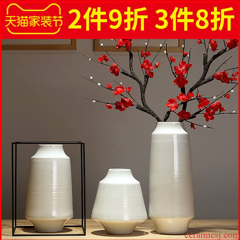 Jingdezhen ceramic vases, flower arranging dried flower vase furnishing articles I and contracted the sitting room porch Chinese style adornment furnishing articles