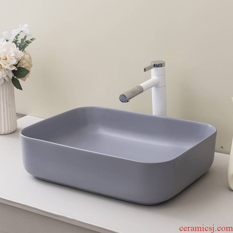 Stage basin balcony household ceramic toilet lavatory rectangle Nordic contracted art the sink basin
