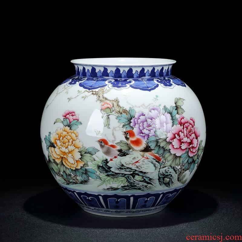 Jingdezhen vase hand - made porcelain dou charactizing a vase