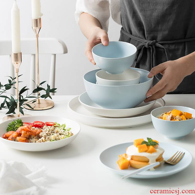 Scene for the Nordic ceramic tableware ins creative web celebrity home plate dish dish dish dish suits for beefsteak