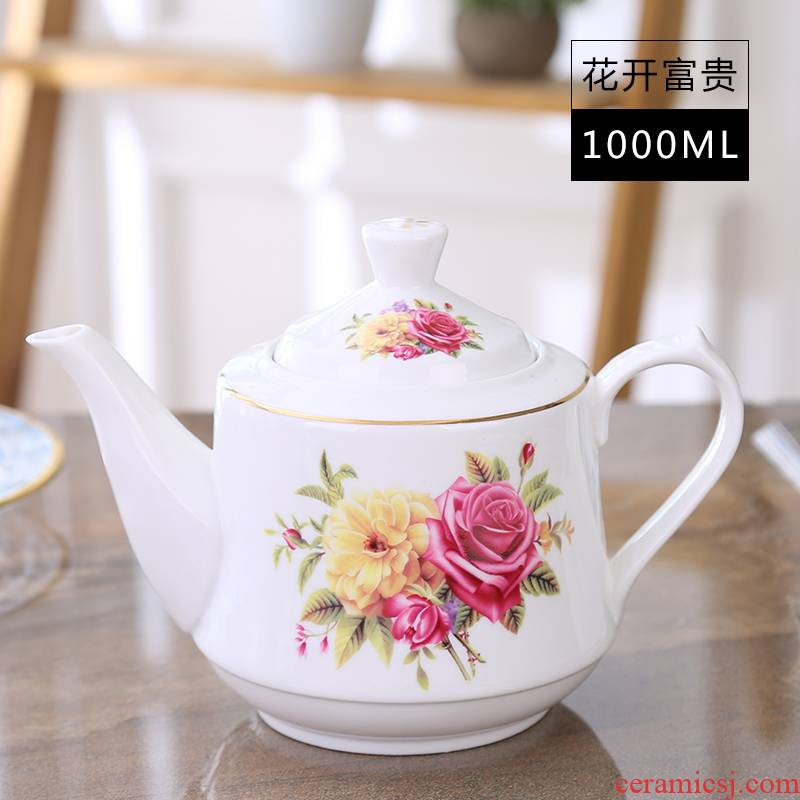 Cold ceramic tea set filter kettle teapot large capacity of single pot 1 to 2 litres of high - temperature household package mail the teapot