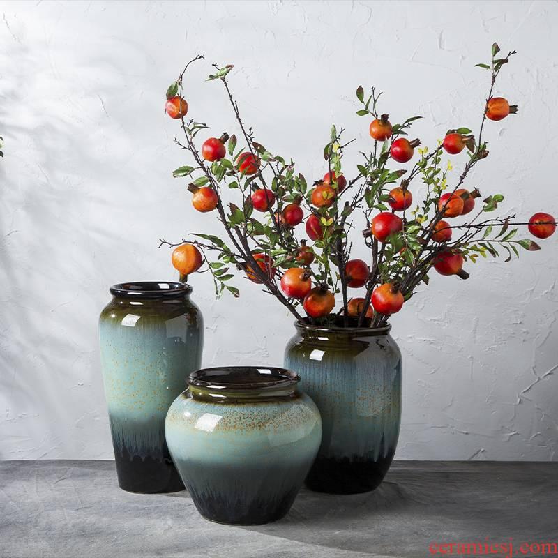 American New Year flower ceramic flower arranging desktop furnishing articles big vase in the sitting room porch simulation example room decoration flower vases