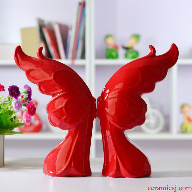 Butterfly ceramic packages mailed fly wing to wing couples furnishing articles/fashion home decoration decoration arts and crafts